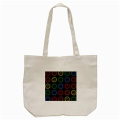 Happy Birthday Colorful Wallpaper Background Tote Bag (Cream)