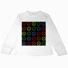 Happy Birthday Colorful Wallpaper Background Kids Long Sleeve T Shirts