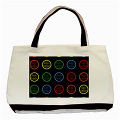 Happy Birthday Colorful Wallpaper Background Basic Tote Bag