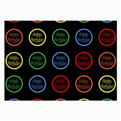 Happy Birthday Colorful Wallpaper Background Large Glasses Cloth