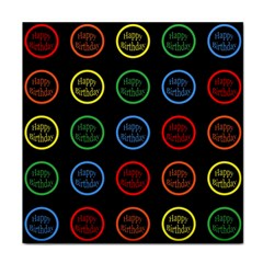 Happy Birthday Colorful Wallpaper Background Face Towel