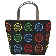Happy Birthday Colorful Wallpaper Background Bucket Bags