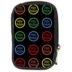 Happy Birthday Colorful Wallpaper Background Compact Camera Cases