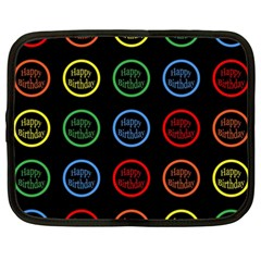 Happy Birthday Colorful Wallpaper Background Netbook Case (xxl)