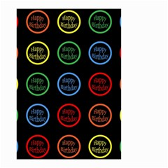 Happy Birthday Colorful Wallpaper Background Small Garden Flag (Two Sides)