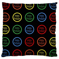 Happy Birthday Colorful Wallpaper Background Large Cushion Case (One Side)
