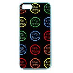 Happy Birthday Colorful Wallpaper Background Apple Seamless iPhone 5 Case (Color)