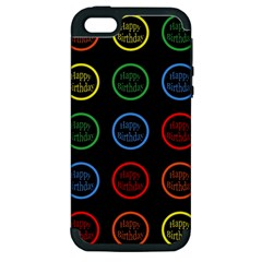 Happy Birthday Colorful Wallpaper Background Apple Iphone 5 Hardshell Case (pc+silicone)