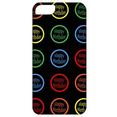 Happy Birthday Colorful Wallpaper Background Apple Iphone 5 Classic Hardshell Case