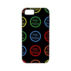 Happy Birthday Colorful Wallpaper Background Apple iPhone 5 Classic Hardshell Case (PC+Silicone)