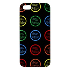 Happy Birthday Colorful Wallpaper Background Iphone 5s/ Se Premium Hardshell Case