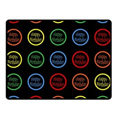 Happy Birthday Colorful Wallpaper Background Double Sided Fleece Blanket (Small)