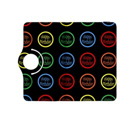 Happy Birthday Colorful Wallpaper Background Kindle Fire Hdx 8 9  Flip 360 Case