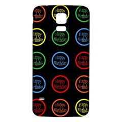 Happy Birthday Colorful Wallpaper Background Samsung Galaxy S5 Back Case (White)