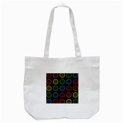Happy Birthday Colorful Wallpaper Background Tote Bag (white)