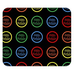 Happy Birthday Colorful Wallpaper Background Double Sided Flano Blanket (Small)