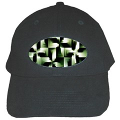 Green Black And White Abstract Background Of Squares Black Cap