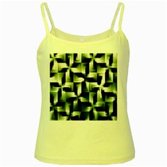 Green Black And White Abstract Background Of Squares Yellow Spaghetti Tank