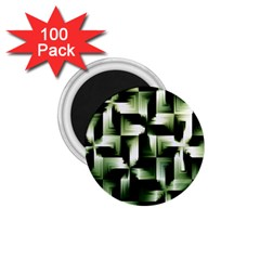 Green Black And White Abstract Background Of Squares 1 75  Magnets (100 Pack)