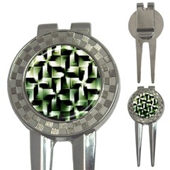 Green Black And White Abstract Background Of Squares 3 In 1 Golf Divots