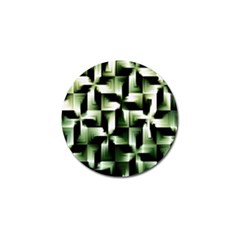 Green Black And White Abstract Background Of Squares Golf Ball Marker (10 pack)