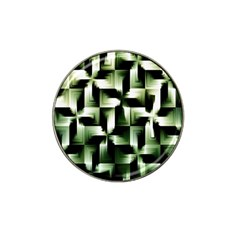 Green Black And White Abstract Background Of Squares Hat Clip Ball Marker (4 pack)