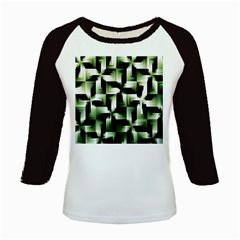 Green Black And White Abstract Background Of Squares Kids Baseball Jerseys