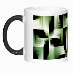 Green Black And White Abstract Background Of Squares Morph Mugs