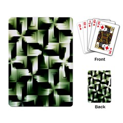 Green Black And White Abstract Background Of Squares Playing Card