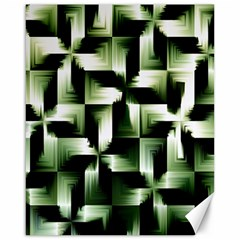 Green Black And White Abstract Background Of Squares Canvas 16  X 20