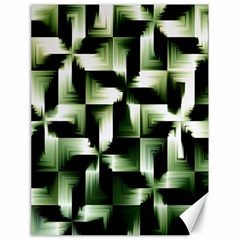 Green Black And White Abstract Background Of Squares Canvas 18  X 24