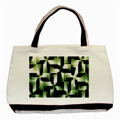 Green Black And White Abstract Background Of Squares Basic Tote Bag (two Sides)