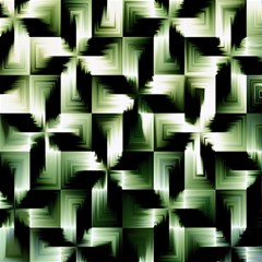 Green Black And White Abstract Background Of Squares Magic Photo Cubes