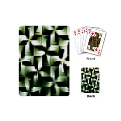 Green Black And White Abstract Background Of Squares Playing Cards (Mini)