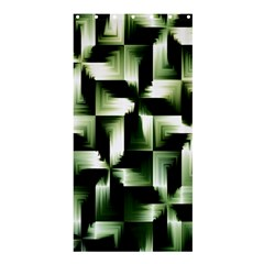 Green Black And White Abstract Background Of Squares Shower Curtain 36  X 72  (stall)