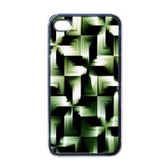 Green Black And White Abstract Background Of Squares Apple iPhone 4 Case (Black)