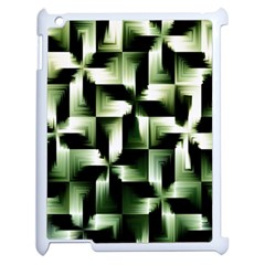 Green Black And White Abstract Background Of Squares Apple Ipad 2 Case (white)