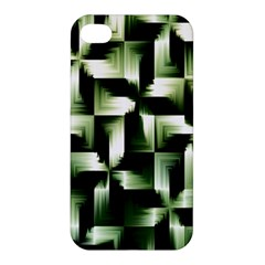 Green Black And White Abstract Background Of Squares Apple Iphone 4/4s Hardshell Case