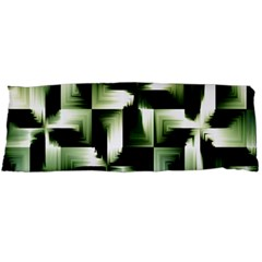 Green Black And White Abstract Background Of Squares Body Pillow Case Dakimakura (Two Sides)