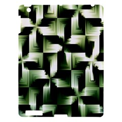 Green Black And White Abstract Background Of Squares Apple iPad 3/4 Hardshell Case