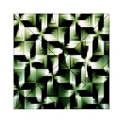 Green Black And White Abstract Background Of Squares Acrylic Tangram Puzzle (6  x 6 )