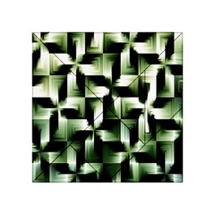 Green Black And White Abstract Background Of Squares Acrylic Tangram Puzzle (4  x 4 )