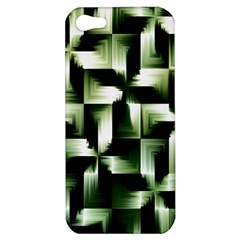 Green Black And White Abstract Background Of Squares Apple iPhone 5 Hardshell Case
