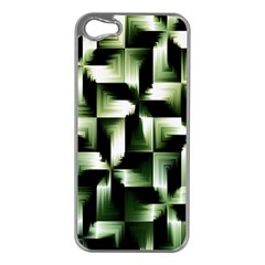 Green Black And White Abstract Background Of Squares Apple iPhone 5 Case (Silver)