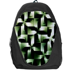 Green Black And White Abstract Background Of Squares Backpack Bag