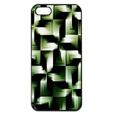 Green Black And White Abstract Background Of Squares Apple Iphone 5 Seamless Case (black)