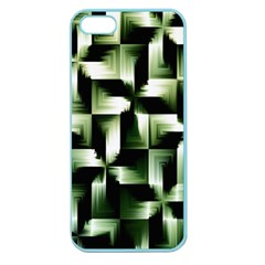 Green Black And White Abstract Background Of Squares Apple Seamless iPhone 5 Case (Color)