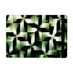 Green Black And White Abstract Background Of Squares Apple iPad Mini Flip Case