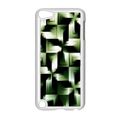 Green Black And White Abstract Background Of Squares Apple iPod Touch 5 Case (White)