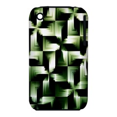 Green Black And White Abstract Background Of Squares iPhone 3S/3GS